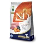 FARMINA. N&D Тыква. Ягненок, тыква, черника. Полнорационное питание для щенков, беременных и кормящих собак мелких пород. 2,5 кг
