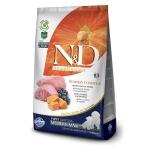 FARMINA. N&D Тыква. Ягненок, тыква, черника. Полнорационное питание для щенков, беременных и кормящих собак средних и крупных пород. 2,5 кг