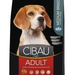 FARMINA. Cibau. Полнорационный и сбалансированный корм для взрослых собак средних пород. 2,5 кг