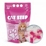 Cat Step. Наполнитель силикагелевый. 3,8 л. Сакура.