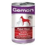 Gemon. Dog Maxi. Консервы для собак крупных пород, кусочки говядины с рисом. 1,25 кг
