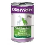 Gemon. Dog Medium. Консервы для собак средних пород, кусочки ягненка с рисом. 1,25 кг