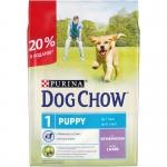 Dog Chow. Для щенков. Ягненок. 2,5 кг