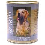 Дог ланч. Для собак. Говядина с рубцом и печенью. 0,75 кг