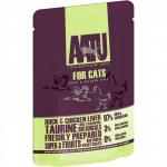 AATU. Паучи для кошек. Утка и куриная печень. 0,085кг