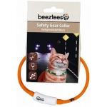 Beeztees. Ошейник для кошек светящийся с разъемом USB, оранжевый