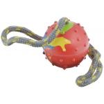 """Каскад. Игрушка для собак """"Канат с литым мячом"""", 40 см."""