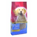 NERO GOLD. Корм super premium для взрослых собак: рыбный коктейль, рис и овощи. Adult. Fish and Rice 24/13. 2,5 кг