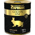 Консервы Четвероногий гурман для собак Golden кролик в желе 340 гр