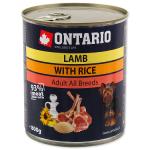 Консервы Ontario с ягненком и рисом 0,8 кг