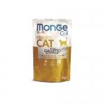 Monge. Паучи для взрослых стерилизованных кошек с курочкой в желе. 0,085кг