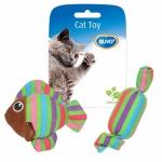 Duvo+. Игрушка для кошек Рыбка и конфетка. (Желто-оранжевая).