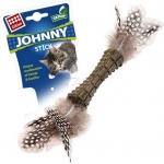 GiGwi. Игрушка для кошек. Johnny stick. Прессованная кошачья мята с перьями.