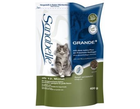 Bosch. SANABELLE. GRANDE. Полнорационный корм для взрослых кошек - рекомендован для кошек крупных пород. 0,4 кг