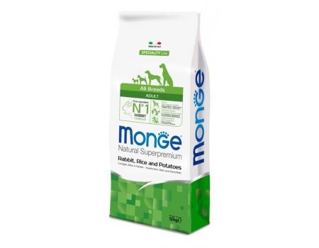 Monge. Dog Speciality. Корм для собак всех пород, кролик с рисом и картофелем. 12 кг