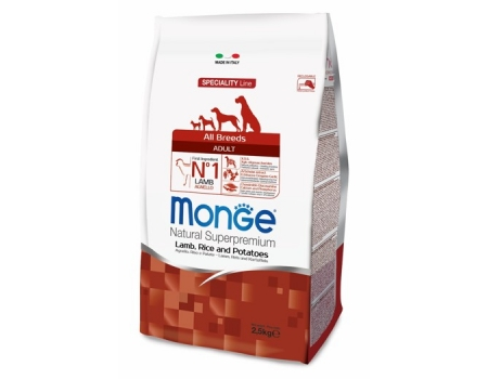 Monge. Dog Speciality. Корм для собак всех пород, ягненок с рисом и картофелем. 2,5 кг