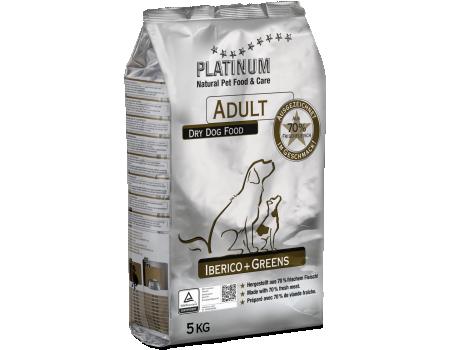 Platinum Корм для взрослых собак Иберийская свинья (Кабан) и Зелень 5кг