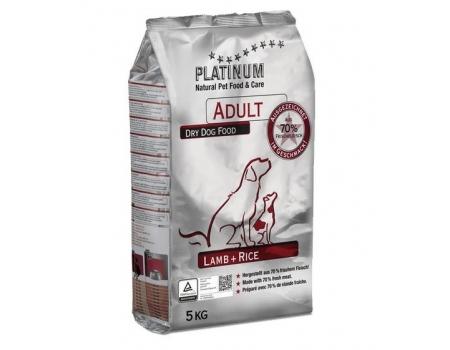Platinum Корм для взрослых собак Ягненок и Рис 5 кг