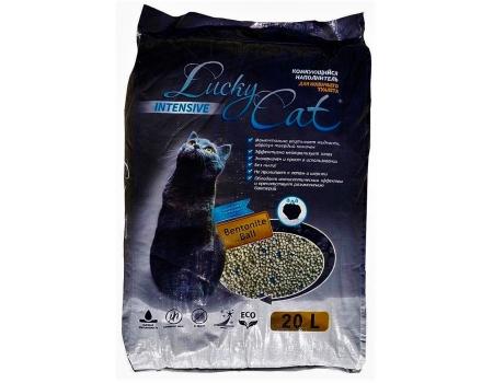 Lucky Cat Intensive. Наполнитель комкующийся с активированным углем. 20л.