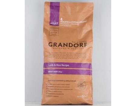 Grandorf  Maxi Ягненок с рисом для собак крупных пород 12 кг