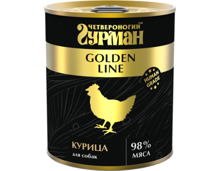 Консервы Четвероногий гурман для собак Golden курица в желе 340 гр