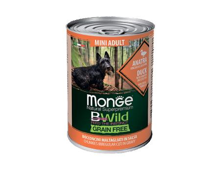 Консервы Monge BWild c уткой, тыквой и кабачками 0,4 кг