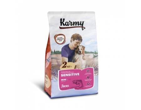 Карми Сенситив лосось Мини корм для взрослых собак 2 кг