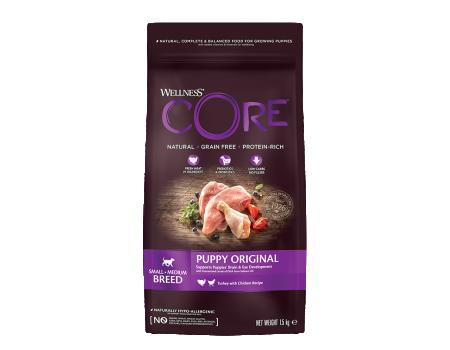 Wellness Core корм для щенков средних и мелких пород 1,5кг