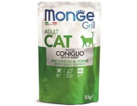 Monge. Паучи для взрослых кошек с кроликом в желе. 0,085кг