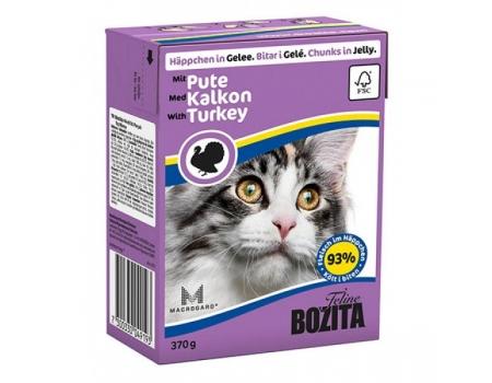 Bozita. Консервы для кошек c индейкой в желе. 370гр