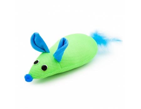 Игрушка для кошек Мышка, хвост с перьями. Feline Clean.