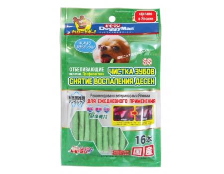 DoggyMan. Отбеливающие палочки с хлородентом для устранения и профилактики зубного камня. Размер SS .16шт.