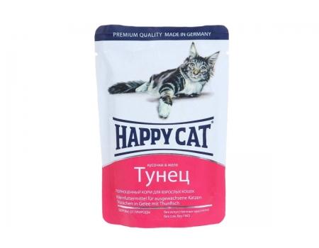Happy Cat. Паучи для взрослых кошек. Тунец в желе. 0,085кг.