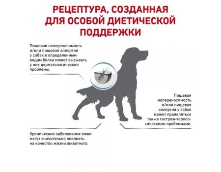 Роял Канин для собак. При пищевой аллергии с острой непереносимостью. Royal Canin Anallergenic 8 кг