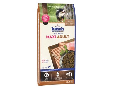 Bosch. MAXI ADULT. Полнорационный корм для взрослых собак крупных пород (весом свыше 25 кг) со средним уровнем активности. 15 кг