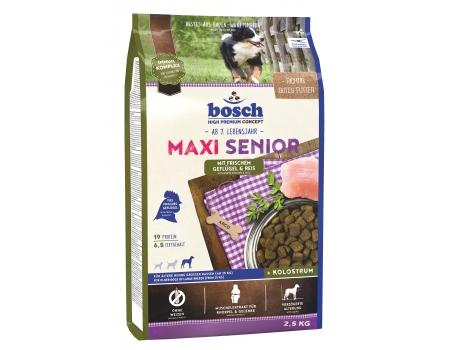 Bosch. MAXI SENIOR с птицей и рисом. Полнорационный корм для пожилых собак крупных пород (весом свыше 25 кг). 2,5 кг