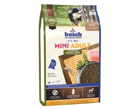 Bosch. MINI ADULT с птицей и просом. Полнорационный корм для взрослых собак маленьких пород. 3 кг