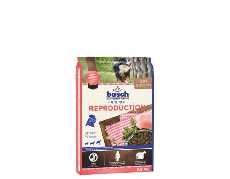 Bosch. REPRODUCTION. Полнорационный корм для беременных (с 5-ой недели) и кормящих сук. 7,5 кг