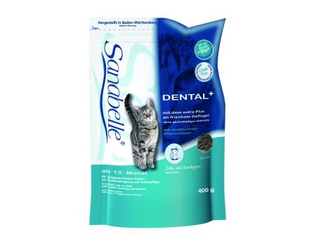 Bosch. SANABELLE. DENTAL. Полнорационный корм  - поддерживает гигиену ротовой полости, удаляет зубной налёт. 0,4 кг