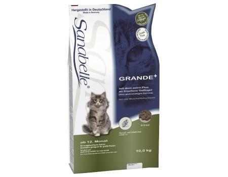 Bosch. SANABELLE. GRANDE. Полнорационный корм для взрослых кошек - рекомендован для кошек крупных пород. 10 кг