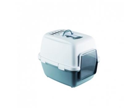 Туалет-домик Stefanplast Cathy Comfort с угольным фильтром и совочком, синий, 58х45х48см