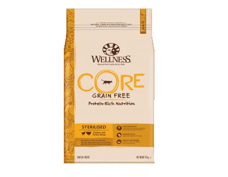 Wellness Core Sterillised для стерилизованных кошек с курицей и индейкой 10кг